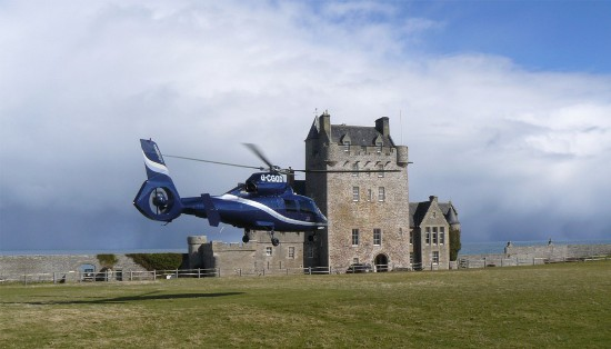 Arriving in style at Ackergill Tower
